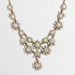 Factory crystal bouquet bib necklace