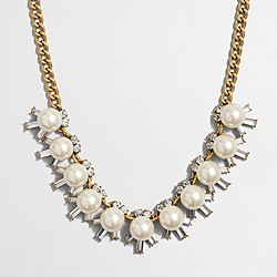 Factory pearl and crystal beams necklace