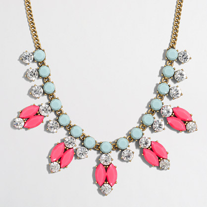 Neon oval necklace