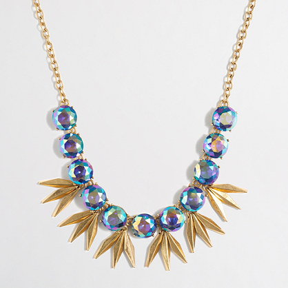 Iridescent circles and points necklace