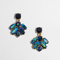 Factory crystal cluster drop earrings