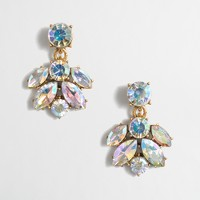 Crystal cluster drop earrings