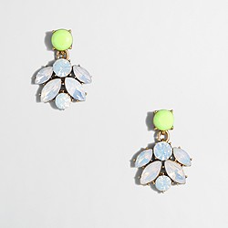 Factory crystal cluster drop earrings