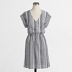 Factory striped V-neck dress