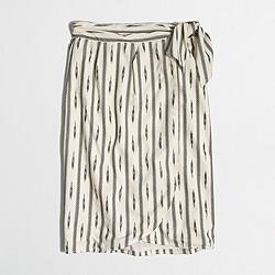 Factory ikat faux-wrap skirt