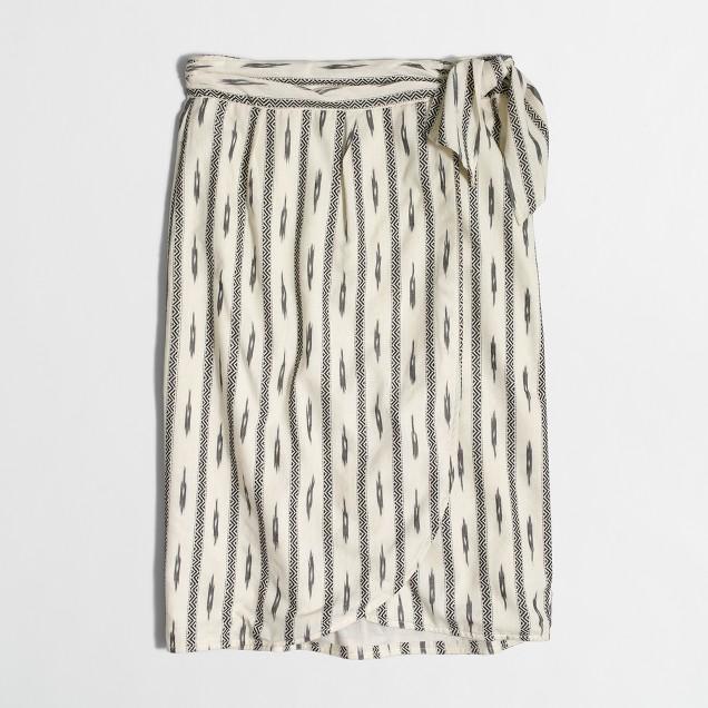 Ikat faux-wrap skirt