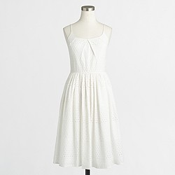 Factory eyelet flounce dress