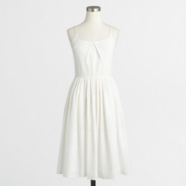 Eyelet flounce dress