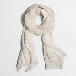 Factory striped Lurex® thread scarf
