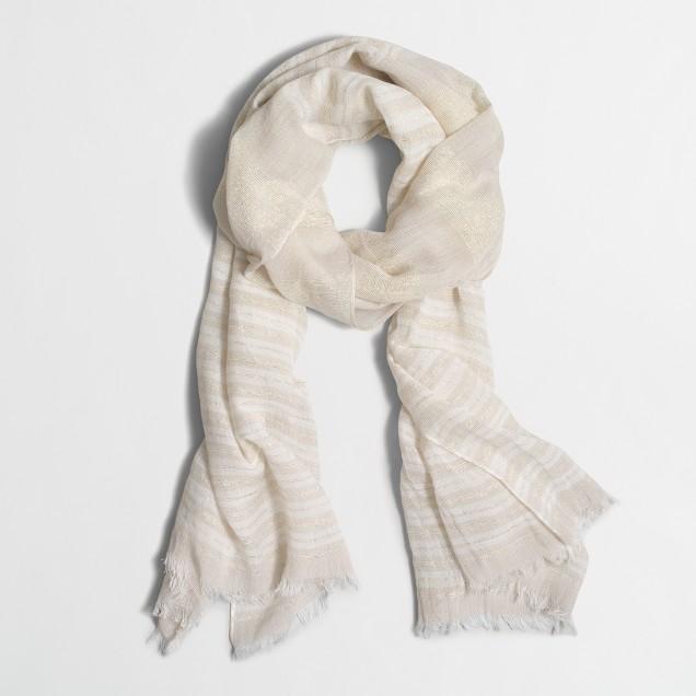 Striped Lurex® thread scarf