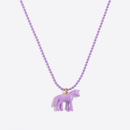 Girls' unicorn pendant necklace