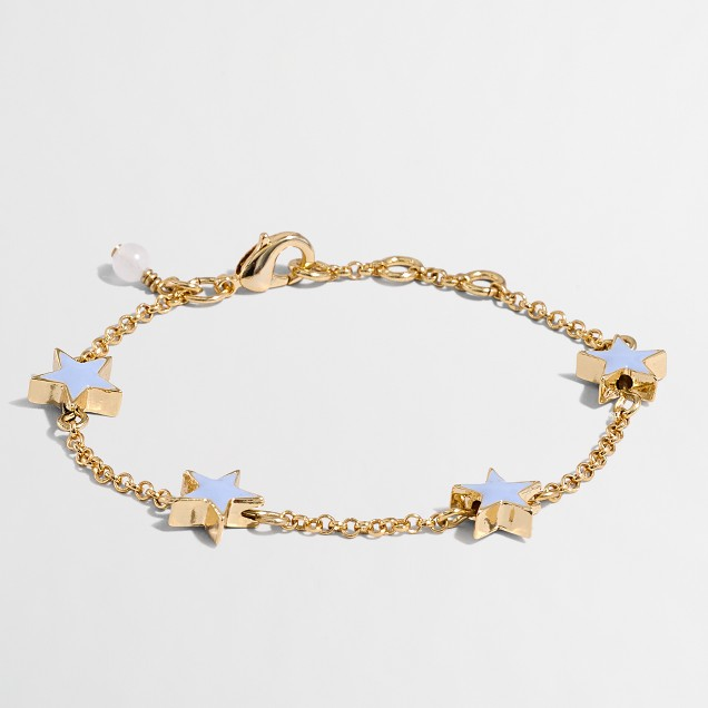 Girls' enamel star bracelet