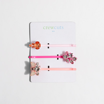 Girls' bobby pin 3-pack