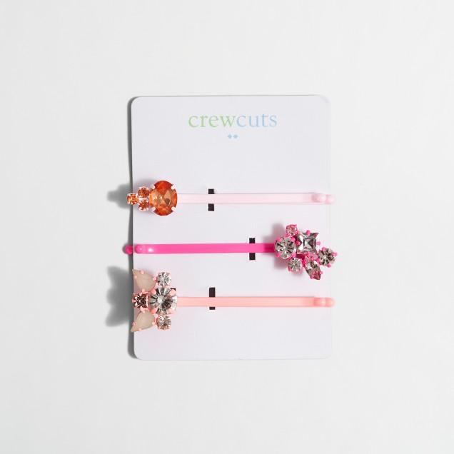 Girls' bobby pin 3-pack