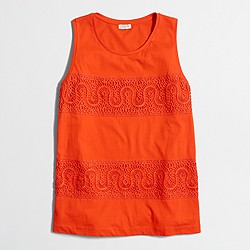 Factory lace-panel tank top