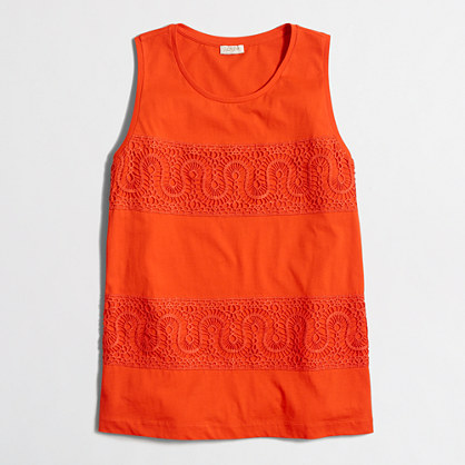 Lace-panel tank top