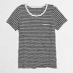 Factory striped Lurex® trim pocket T-shirt