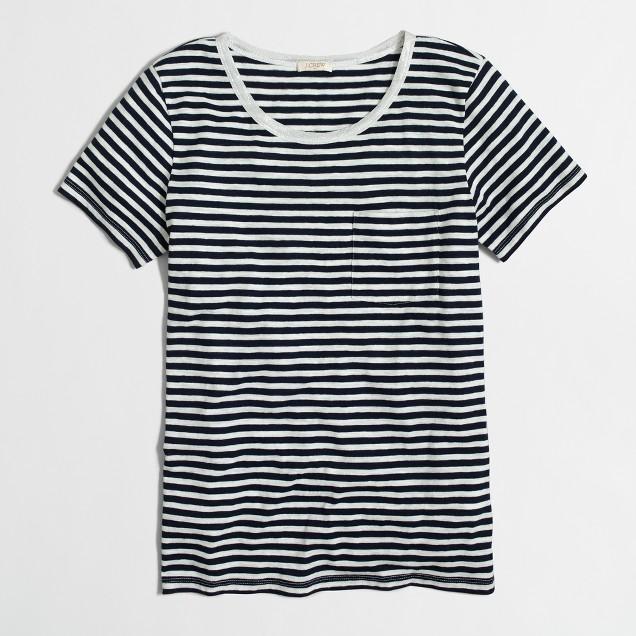 Striped Lurex® trim pocket T-shirt