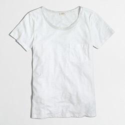 Factory Lurex® trim pocket T-shirt
