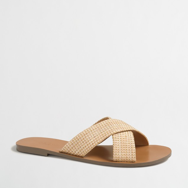 Raffia seaside sandals