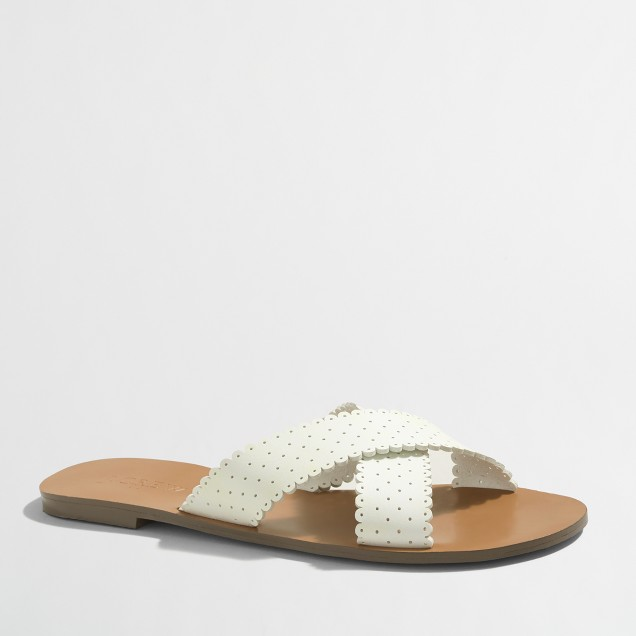 Scallop seaside sandals