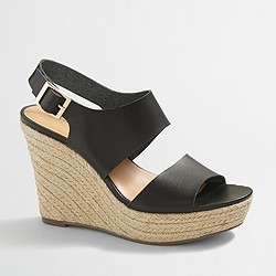 Factory slingback wedges