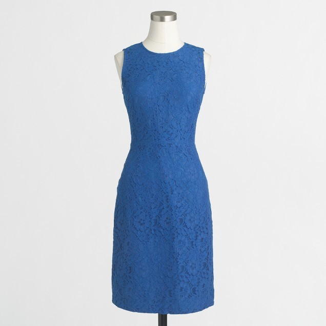 Petite floral lace shift dress