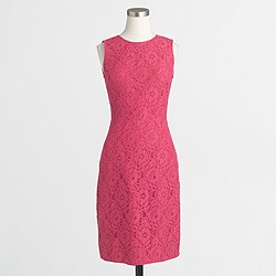 Factory floral lace shift dress