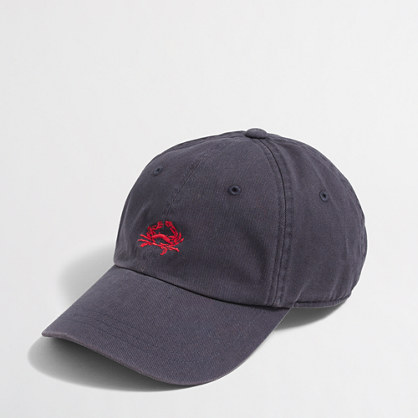 Sunwashed crab baseball cap