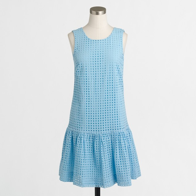 Eyelet flounce dress