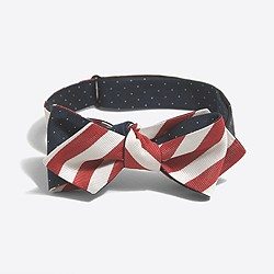 Double-sided silk bow tie