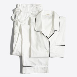 Factory long-sleeve end-on-end cotton pajama set
