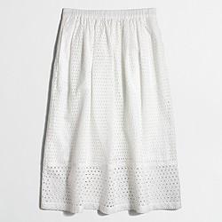Factory eyelet skirt