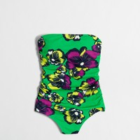 Graphic floral one-piece swimsuit