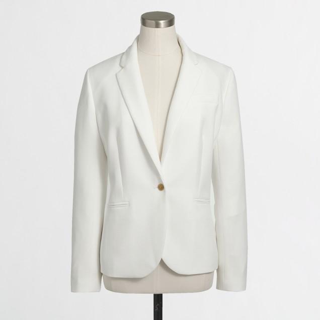 Drapey textured blazer