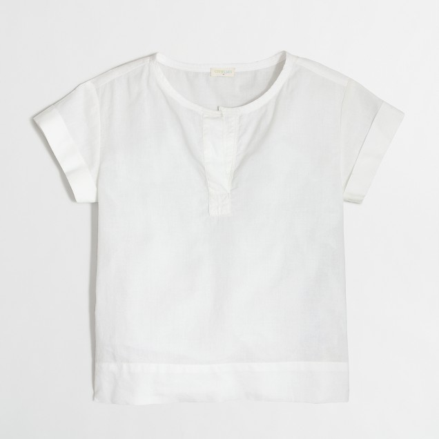 Girls' short-sleeve popover top