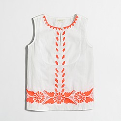 Factory girls' embroidered shell