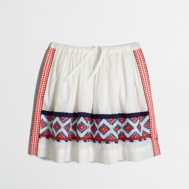 Girls' embroidered skirt