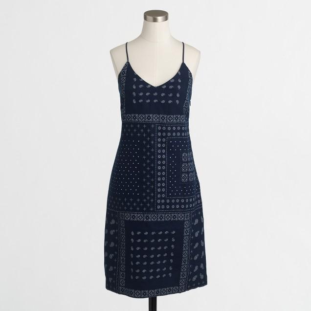 Indigo bandana tank dress