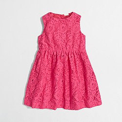Factory girls' floral lace dress