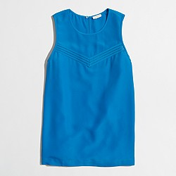 Factory ladder-stitch drapey shell top