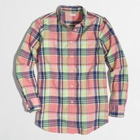 Summer plaid washed shirt