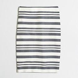 Factory chevron striped pencil skirt