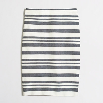 Chevron striped pencil skirt
