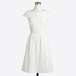 Factory short-sleeve eyelet dress