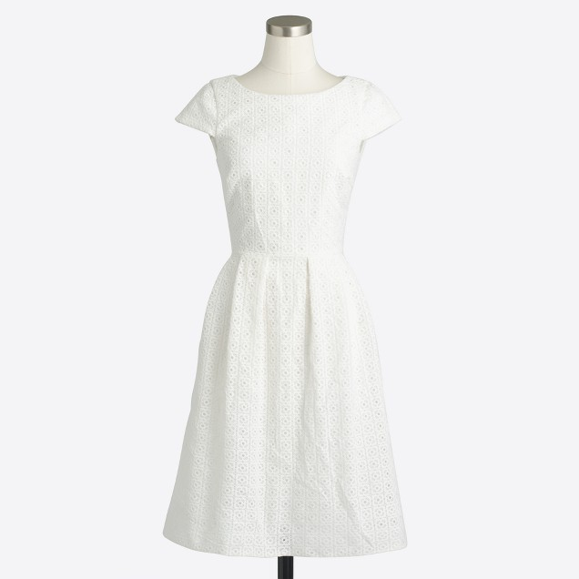 Short-sleeve eyelet dress