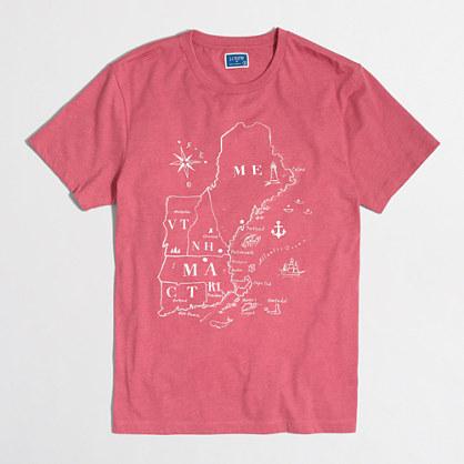 Northeast map T-shirt