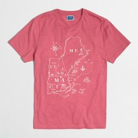 Northeast map T-shirt