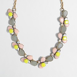 Factory layered stones necklace