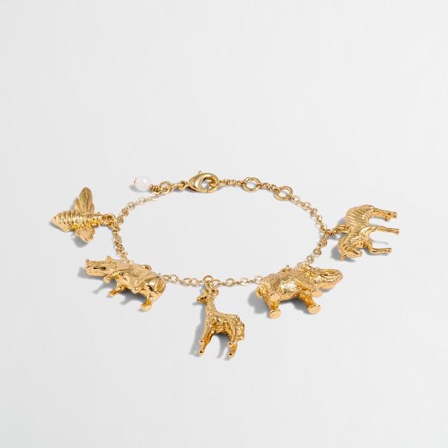 Girls' animal charm bracelet